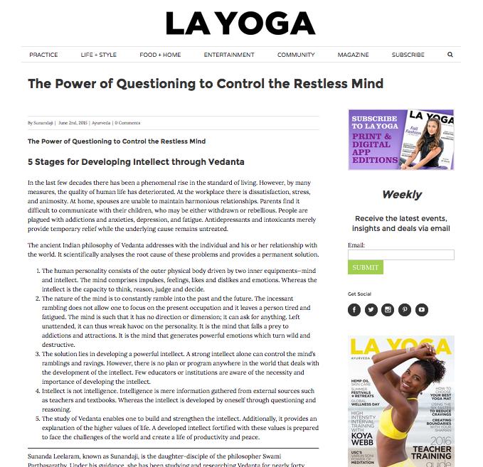 Sunandaji LA Yoga